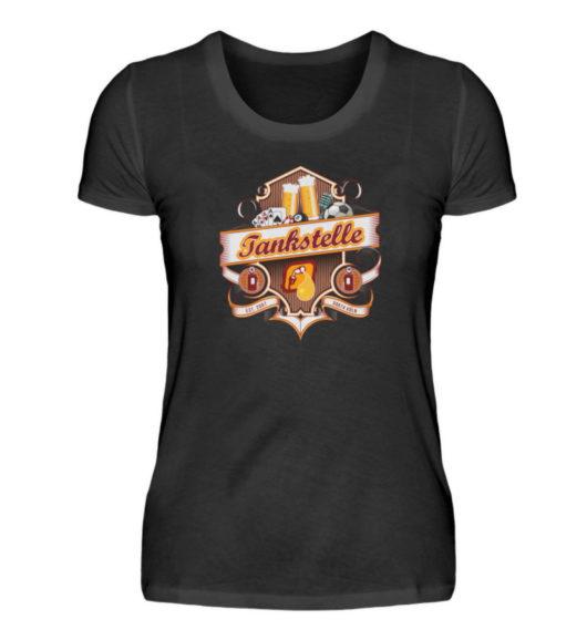 Tankstelle Logo - Damenshirt-16