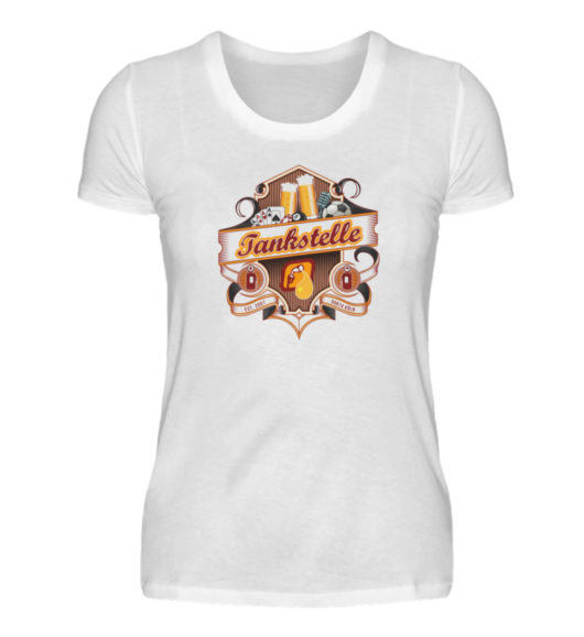 Tankstelle Logo - Damenshirt-3
