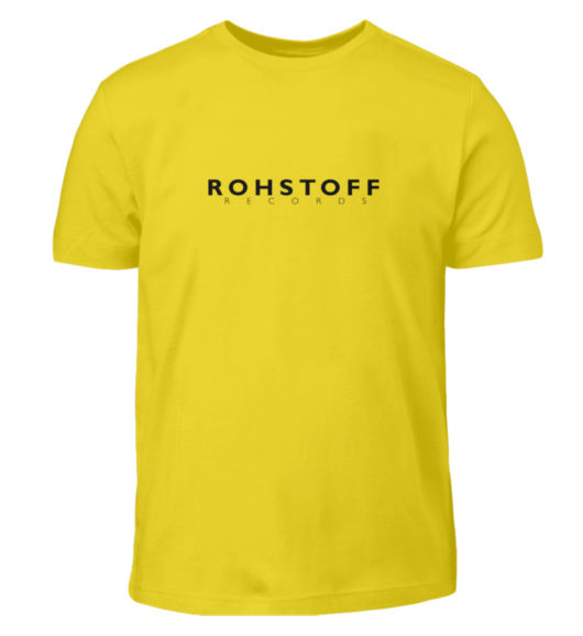 Rohstoff Records Logo - Kinder T-Shirt-1102