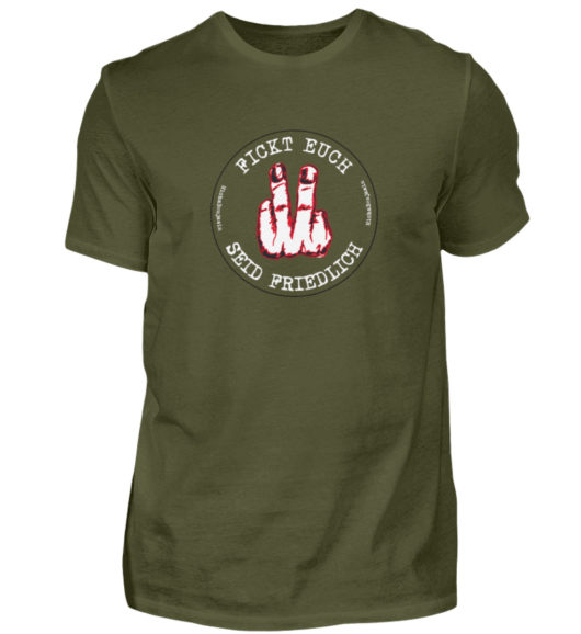 Micha Benjamin Finger Logo - Herren Shirt-1109