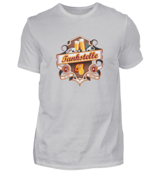 Tankstelle Logo - Herren Shirt-17