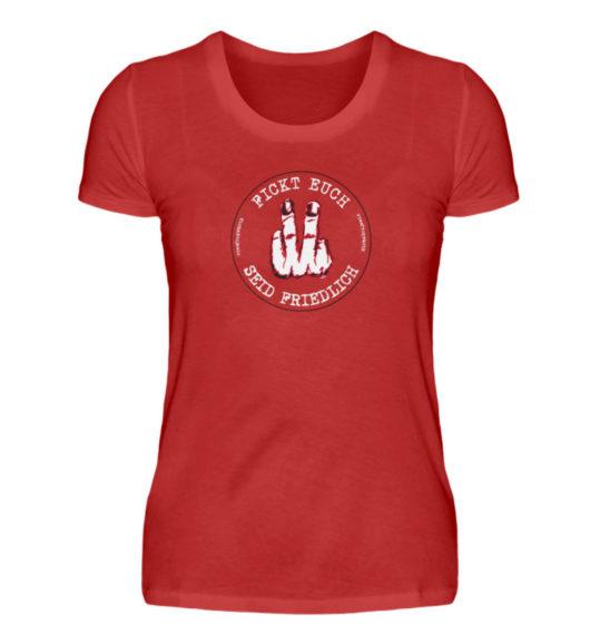 Fickt euch, Seid friedlich - Damenshirt-4