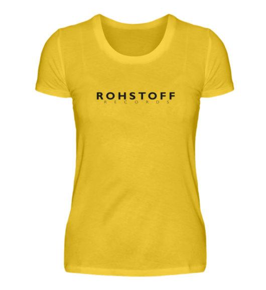 Rohstoff Records Logo - Damenshirt-3201