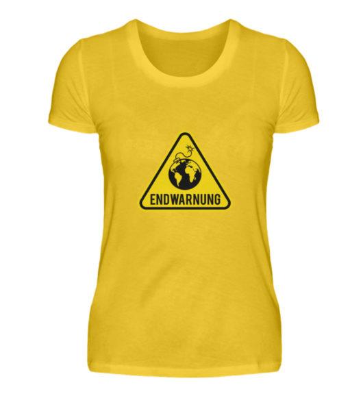 Endwarnung Logo - Damenshirt-3201