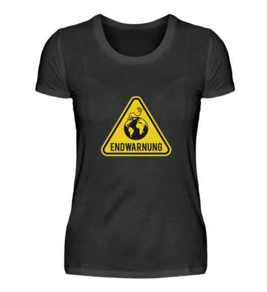 Endwarnung Logo - Damenshirt-16
