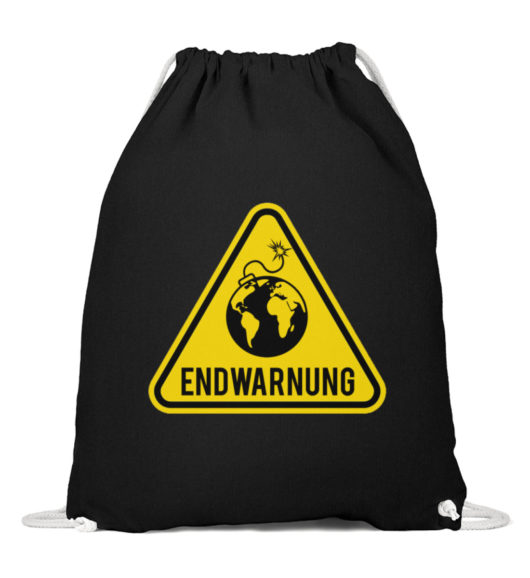 Endwarnung Logo - Baumwoll Gymsac-16