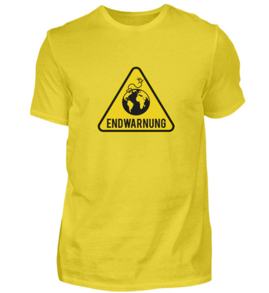 Endwarnung Logo - Herren Shirt-1102