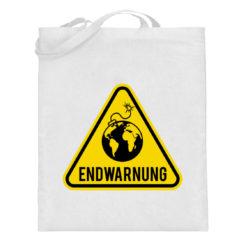 Endwarnung Logo - Jutebeutel (mit langen Henkeln)-3