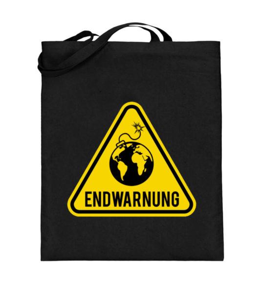 Endwarnung Logo - Jutebeutel (mit langen Henkeln)-16