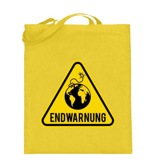Endwarnung Logo - Jutebeutel (mit langen Henkeln)-5766
