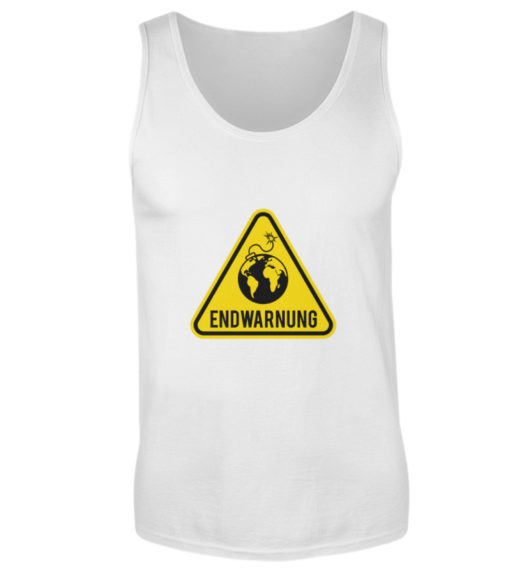 Endwarnung Logo - Herren Tanktop-3